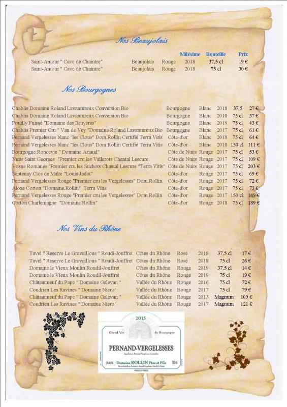 Carte Vins 2