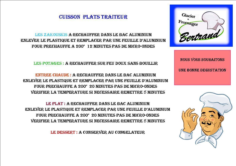 Cuisson plats traiteur 1